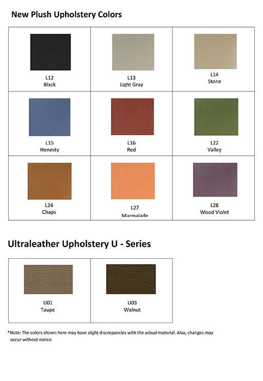 DCI Chair Upholstery Colors